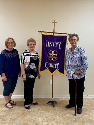 Members of Court Our Lady of Grace #1734, Catholic Daughters of the Americas, Rowena, celebrated their 64th Anniversary on June 23, 2020, with a salad supper and evening of presenting awards.