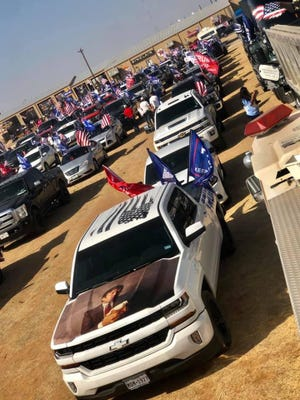 About 5,000 vehicles and 12,000 people were estimated to participate in the Trump Train parade Sunday around Lubbock.