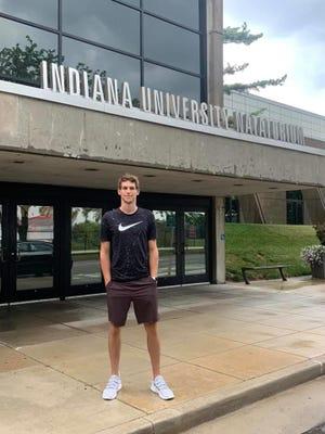 The Indiana University Natatorium is Adam Peterson's new swimming home.