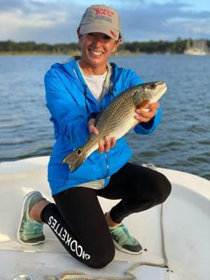 Stacey Horner, a member of the Snookettes fishing team, caught this fish during a Savannah sport fishing tournament on Nov. 7 on the Wilmington River.