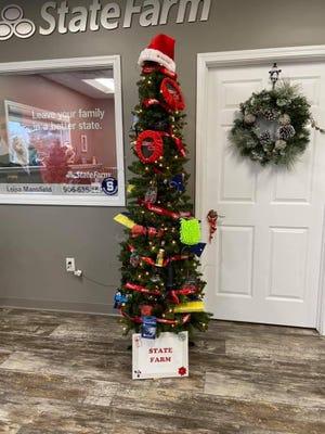 The State Farm Christmas tree.