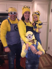 The Aversa family on Halloween last year.