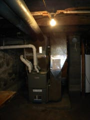 "The Rhoades' new Lennox furnace, donated through the ""Heat UP Wisconsin"" program."