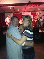 Last September Maggie DeMeuse was dancing at her 50th birthday party with her brother, Mike Skippon, at the Institute Saloon. A short time later, symptoms of breast cancer returned. She is now fighting for her life after being diagnosed with stage-four breast cancer. Submitted.