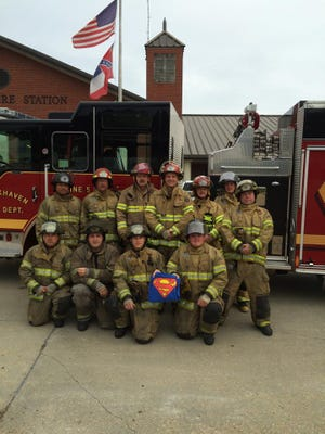 Brookhaven Fire Department shows support for Peyton Flowers