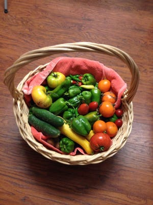 This basket of veggies was among the last of this year's yield at Gardenville in Garden City.