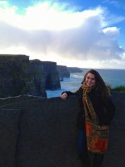Travel columnist Jenna Intersimone at the Cliffs of Moher in Ireland during her time abroad.