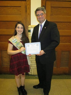 Silver Award winner Aliya McDonald with Sisler.