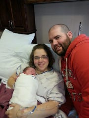 Becky and Kyle Radtke with their son, Raylan Bradley Radtke, who was born Jan. 9. Raylan weighed 7pounds, 4 ounces and measured 21 inches long at birth.