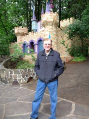 Roger Tofte, 84, original owner and manager of the Enchanted Forest, stands outside the park.