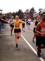 Patricia Garibaldi of Pleasantville ran the 2013 Boston Marathon, but she was stopped from completing it four-tenths of a mile from the finish line because of the two bombs that went off.