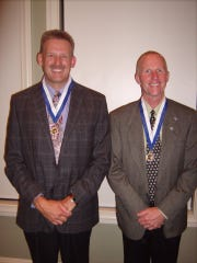 David Desender, left, and Bob Moon, recipients of the