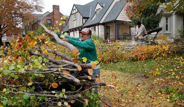 """City officials say last week's ice storm is the worst since the 2015 Thanksgiving storm. Nearly six weeks after that storm, debris contractors' first pass through neighborhoods was only halfway complete, and officials acknowledged they had underestimated the tonnage waiting to be picked up. """"People's patience is running a little thin at this point,"""" Ward 1 Councilman James Greiner said at the time. Cleanup after the latest storm could take months. [The Oklahoman Archives]"""