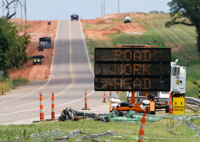 Road construction taking place along Route 66 in the eastern part of Oklahoma County, Monday, July 17, 2017. Photo by Jacob Derichsweiler, The Oklahoman