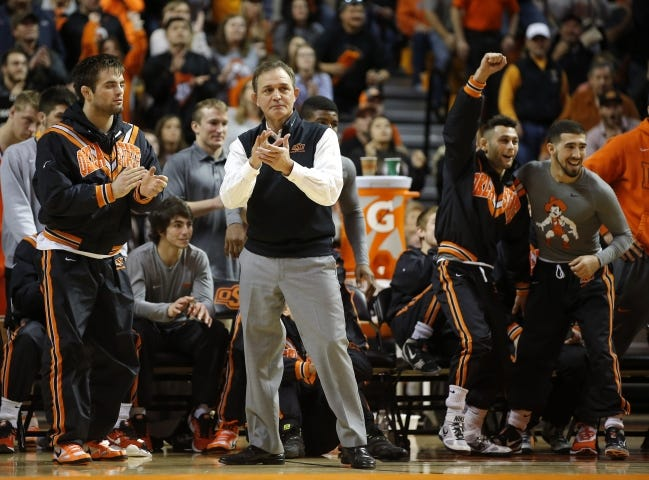 Oklahoma State wrestling coach John Smith and the Cowboys will be back on the mat for the first time this season with a doubleheader on Sunday inside Gallagher-Iba Arena. [BRYAN TERRY/THE OKLAHOMAN]