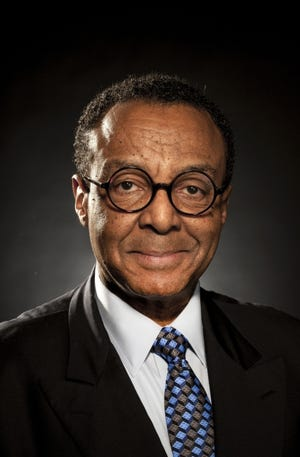 Portrait of Clarence Page in the Tribune Studio on Wednesday, 9 April 2014 for the cover of his new book.  (Bill Hogan/Chicago Tribune) B583628809Z.1 ....OUTSIDE TRIBUNE CO.- NO MAGS, NO SALES, NO INTERNET, NO TV, CHICAGO OUT, NO DIGITAL MANIPULATION...
