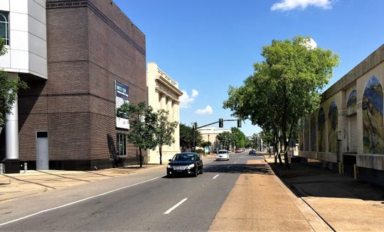Parking will be added and traffic reduced from two lanes to one lane on Second Street as part of the project to reconfigure some downtown Alexandria streets to support the new community college campus.
