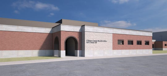 The proposed Calumet County Sheriff's Office and Jail, shown here in an architectural drawing, would be built adjacent to the existing jail at 206 Court St. in Chilton.