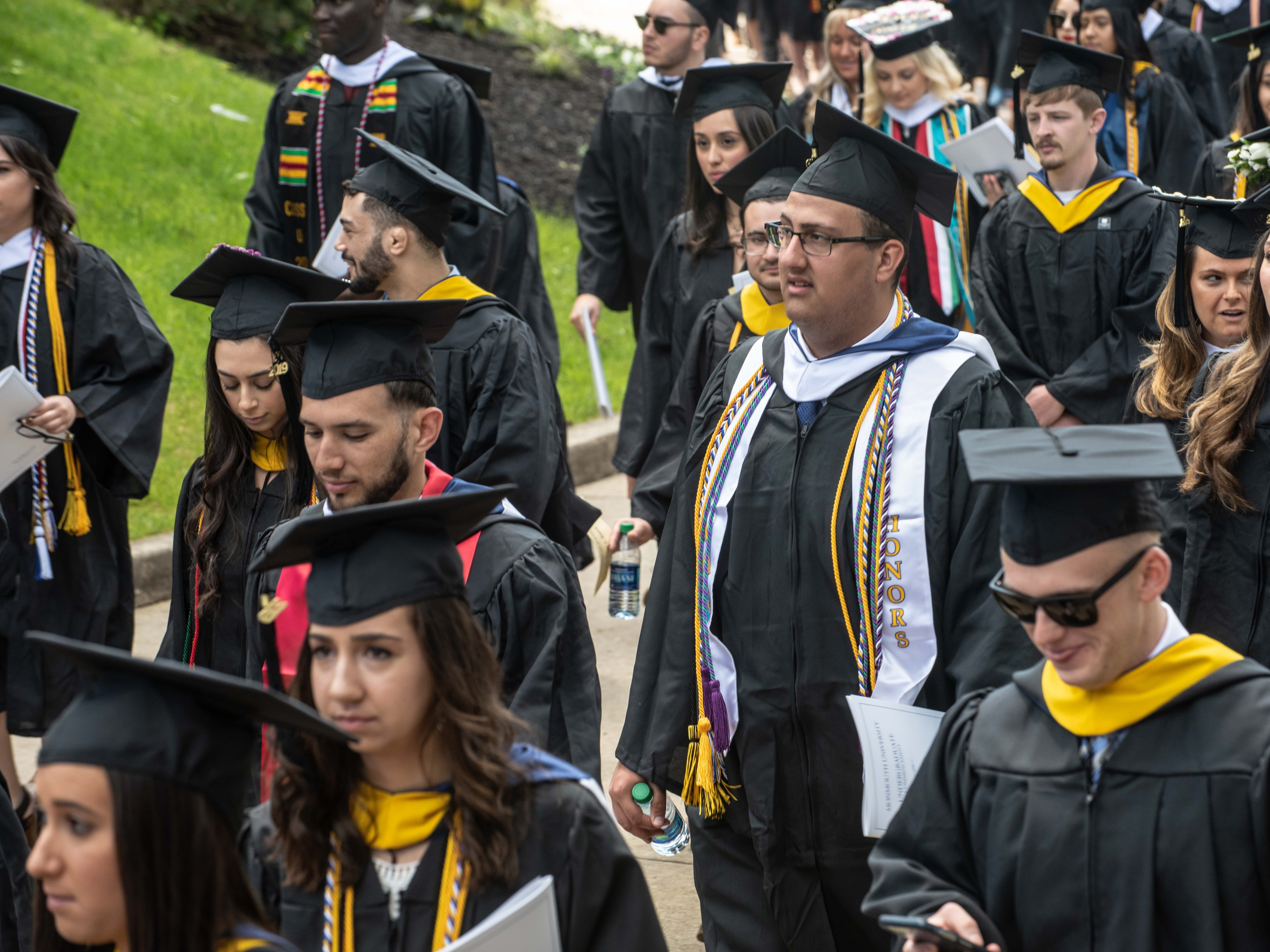 Monmouth University undergraduate commencement for the class of 2019 at PNC Bank Arts Center, Holmdel, on May 15, 2019.