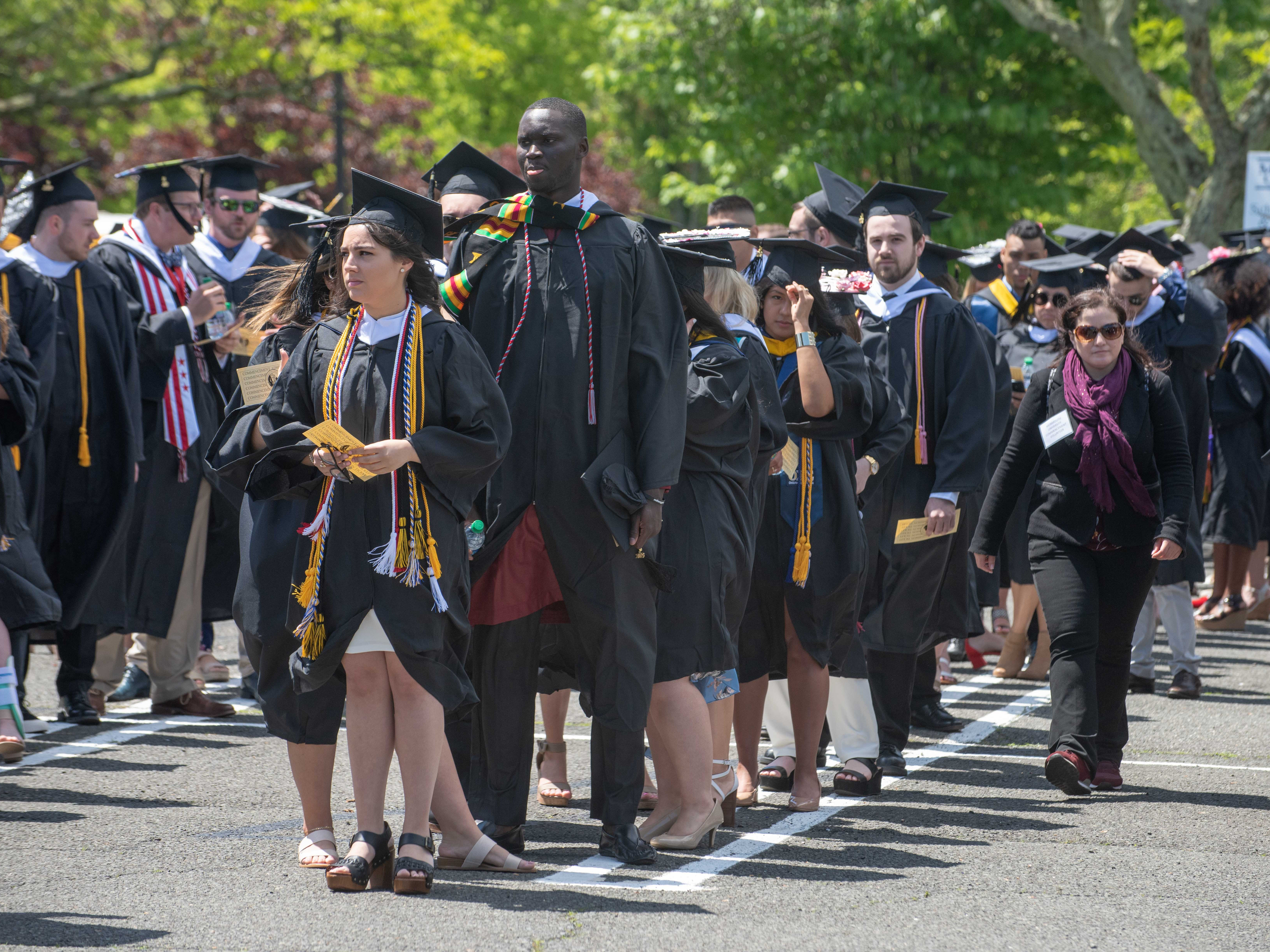 Monmouth University Undergraduate Commencement class of 2019 at PNC Bank Arts Center, Holmdel. 5/15/19 Photo/James J. Connolly/Correspondent.