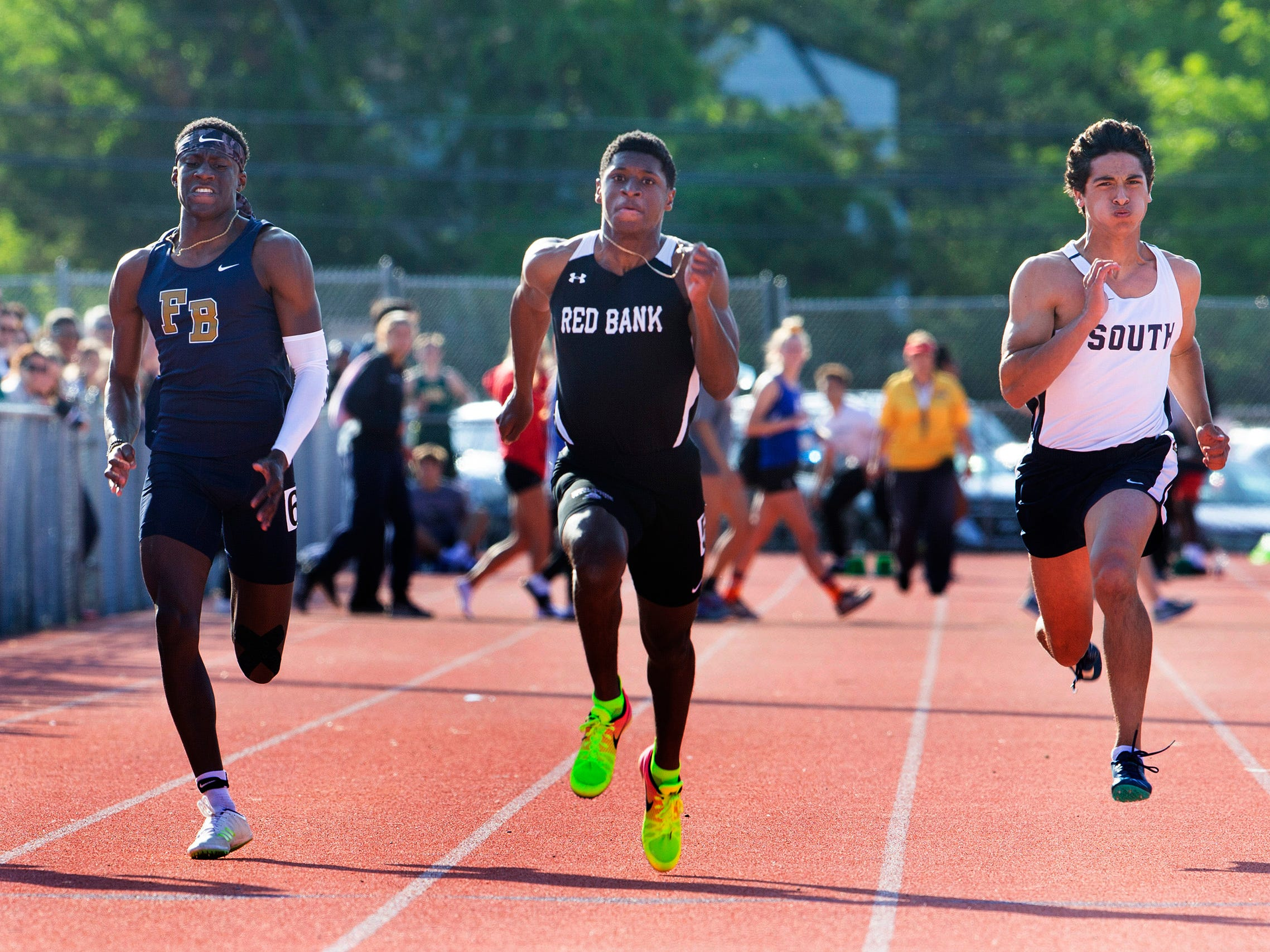 Monmouth County Track Championship in Middletown on May 8, 2019