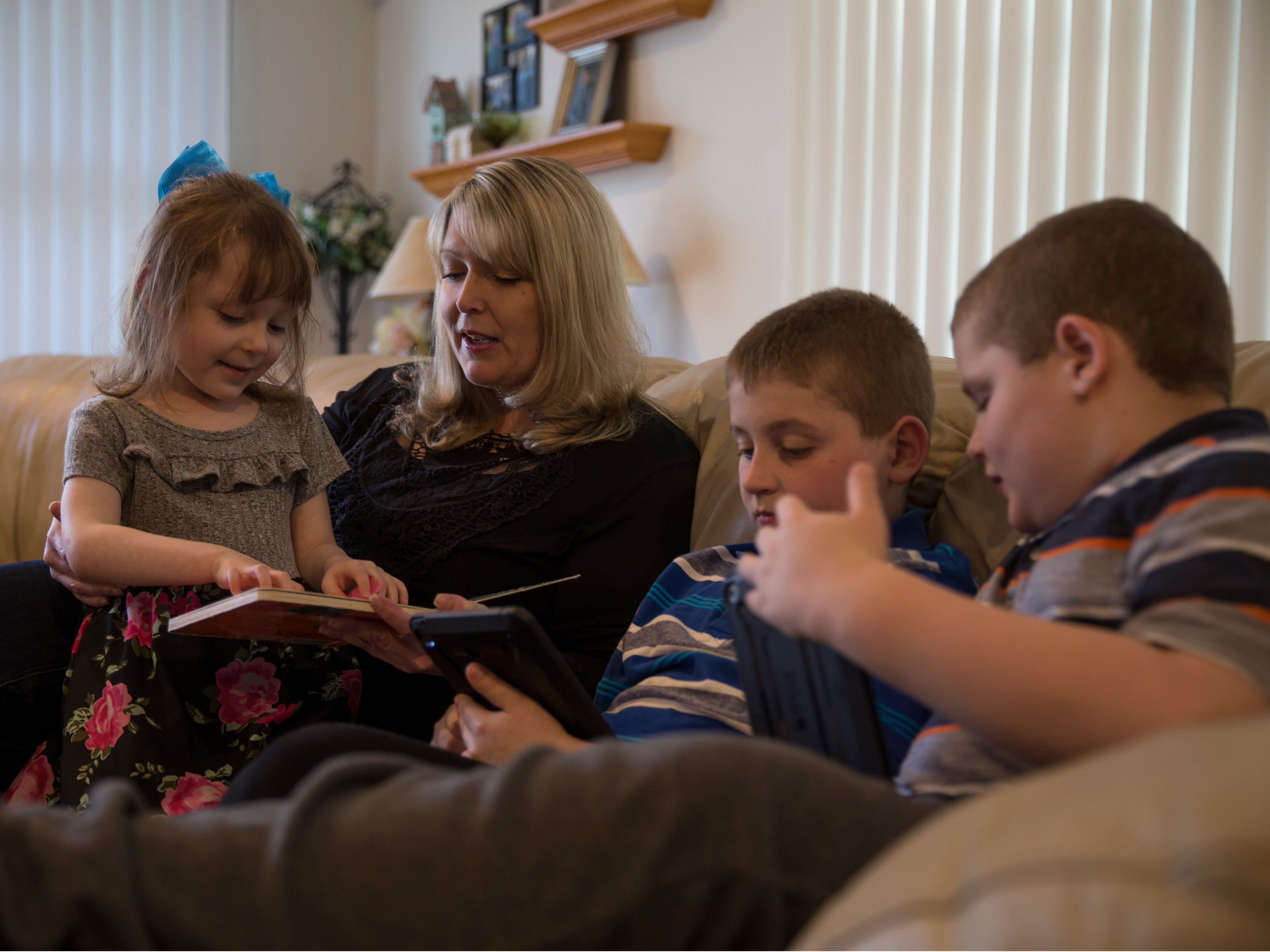 Amie Cottrell with her children Katelyn, 4, Nicholas, 9, and Michael, 7. Jackson native Amie Cottrell is a 39-year-old mother of four young children that is battling Stage 4 breast cancer. She shares her story about managing motherhood despite the advanced cancer. Jackson, NJTuesday, May 7, 2019