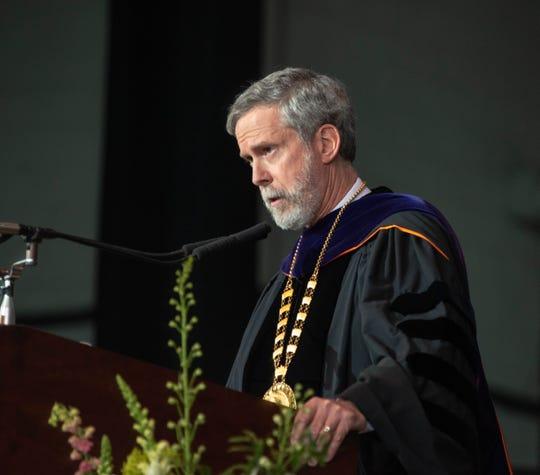 Monmouth University President Grey J. Dimenna