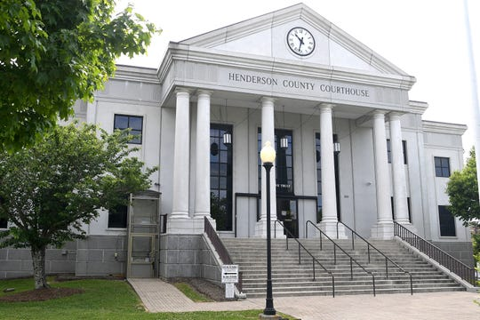 The Henderson County Courthouse on May 15, 2019.
