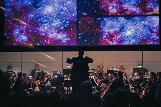 """The Space Coast Symphony Orchestra concludes its 10th Anniversary Season with""""Cosmic Trilogy,""""a concert with stunning images that will celebrate the achievements of NASA."""