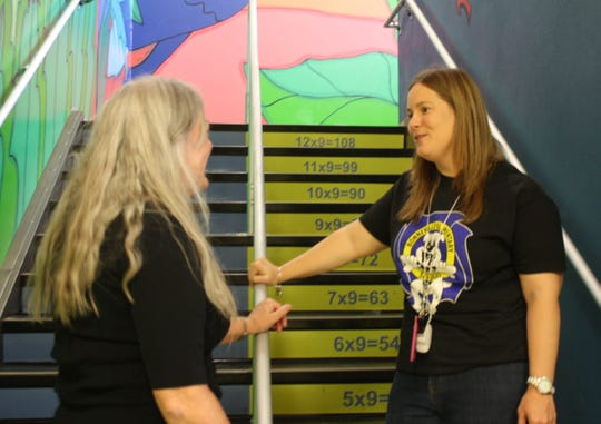 Renee Smithwick, right, grew up on Merritt Island High School. But for the past 13 years, she's taught in Orange County. At Bonneville Elementary in East Orlando, she says she makes $11,000 more than she would in Brevard Public Schools.