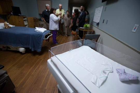 People tour recently remodeled labor, delivery and recovery rooms at Christus Spohn Hospital Kleberg on Thursday, July 30, 2015.