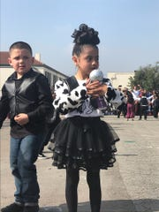 More than 100 kindergarten students danced to Selena Quintanilla's music at an elementary school in Los Angeles, California.