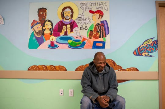 Duane Jackson, who recently acquired housing, sits inside Joseph's House in Camden, N.J. Tuesday, May 14, 2019.
