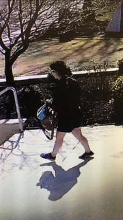 Police are looking for the theft suspect who took an altar server's bag during Mass at St. Charles Borromeo Church in Washington Township.