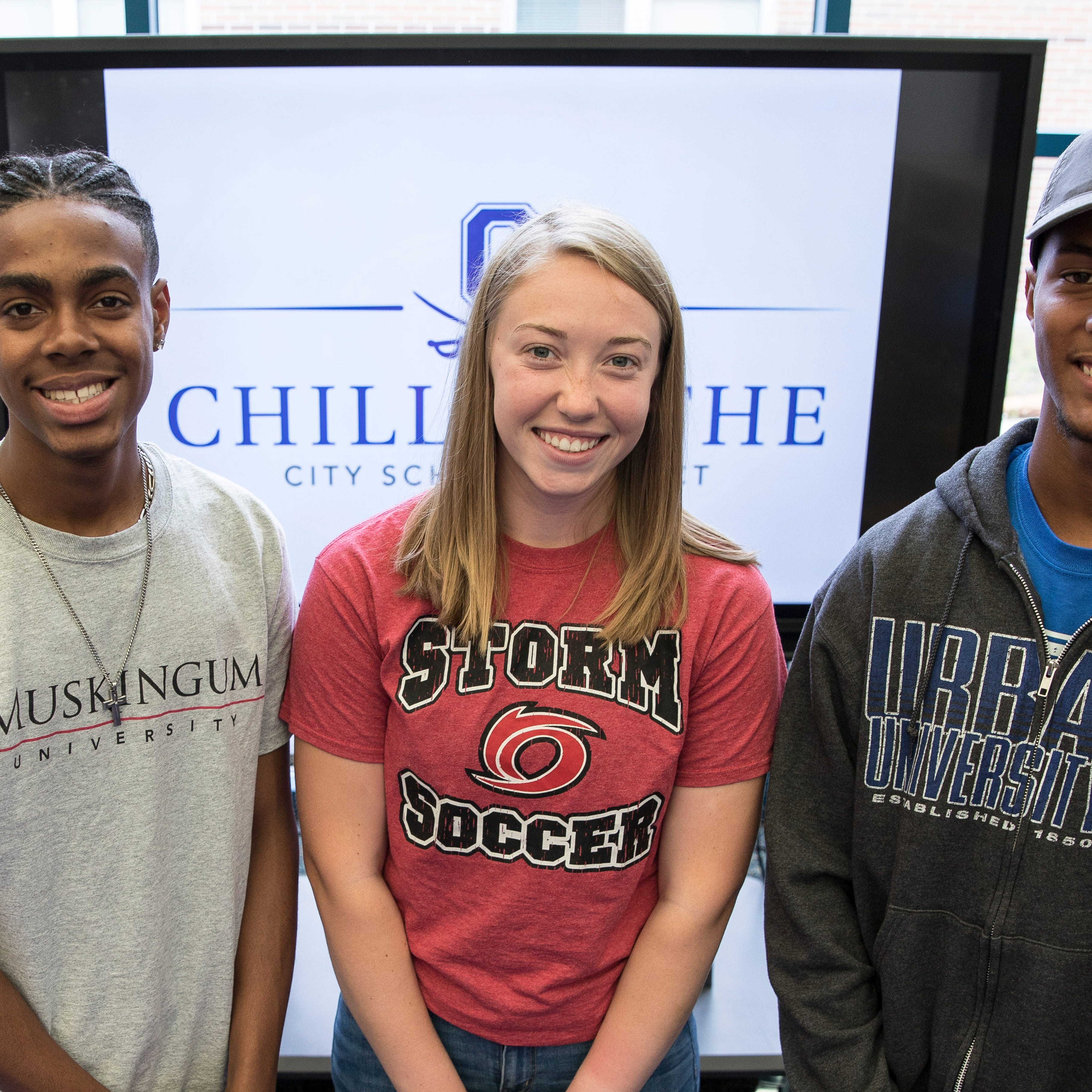 Three Chillicothe Cavalier athletes sign to play sports at the next level