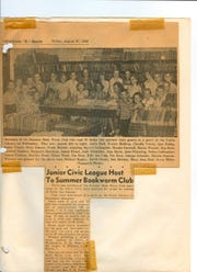 An article from the Chillicothe Gazette about the Bookworm Club.