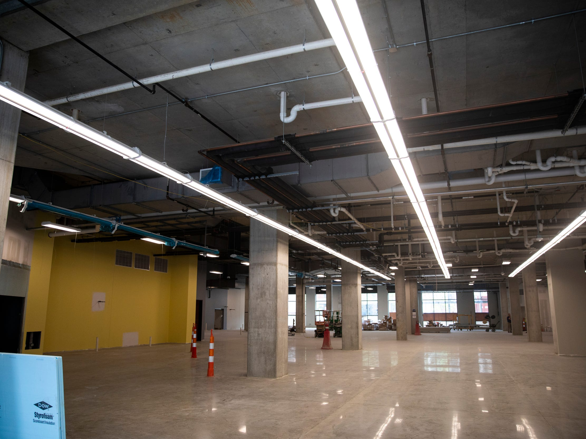 Kroger will open their new space on the corner of Walnut Street and Court Street in September. There is more than 50,000 square feet between the two floors.