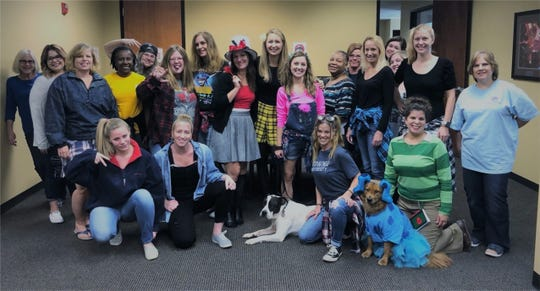 Towne Properties workers observing '90s Day
