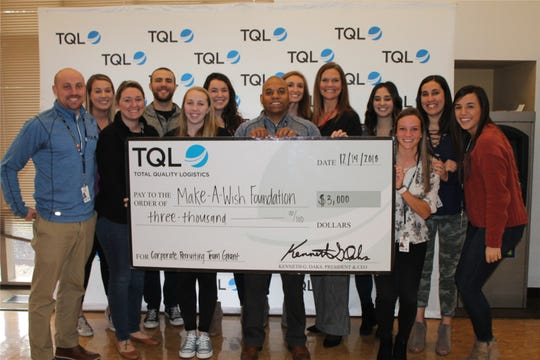 TQL's recruiting team won a $3,000 charity grant during the celebration when the company passed $3 billion in revenue. The team chose the Make-a-Wish Foundation as the recipient.