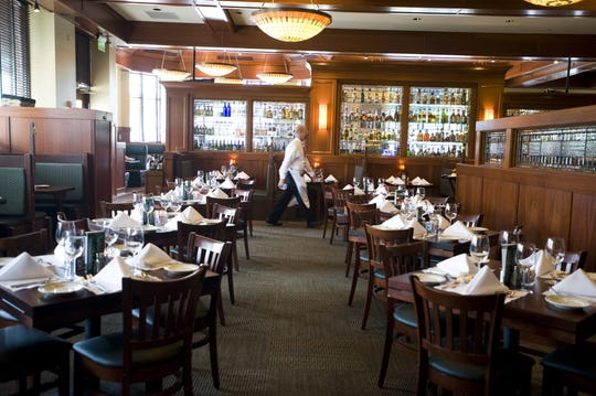 The interior of McCormick & Schmick's restaurant in Cherry Hill.