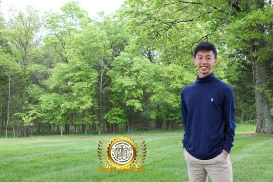 Alexander Chen, the May 2019 Student of the Month at Somerset County Vocational & Technical High School.