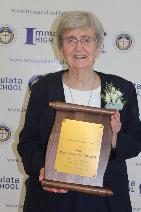 Sr. Regina Karen McNeill, IHM, named Immaculata's Spartan of the Year.