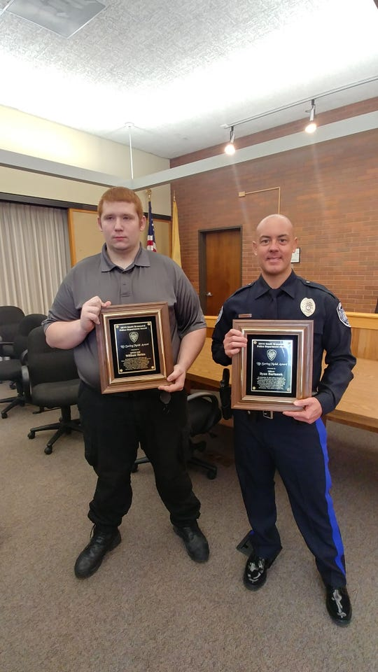 South Brunswick EMT William Heins and Police Officer Ryan Bartunek
