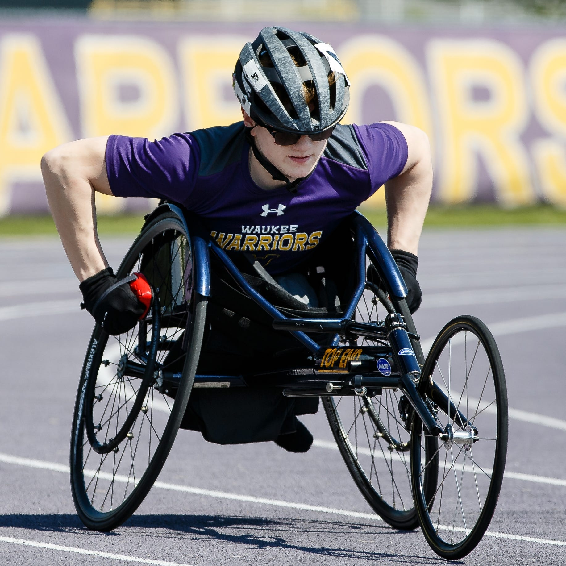 State track: Meet Evan Correll, a Waukee sophomore chasing wheelchair track records
