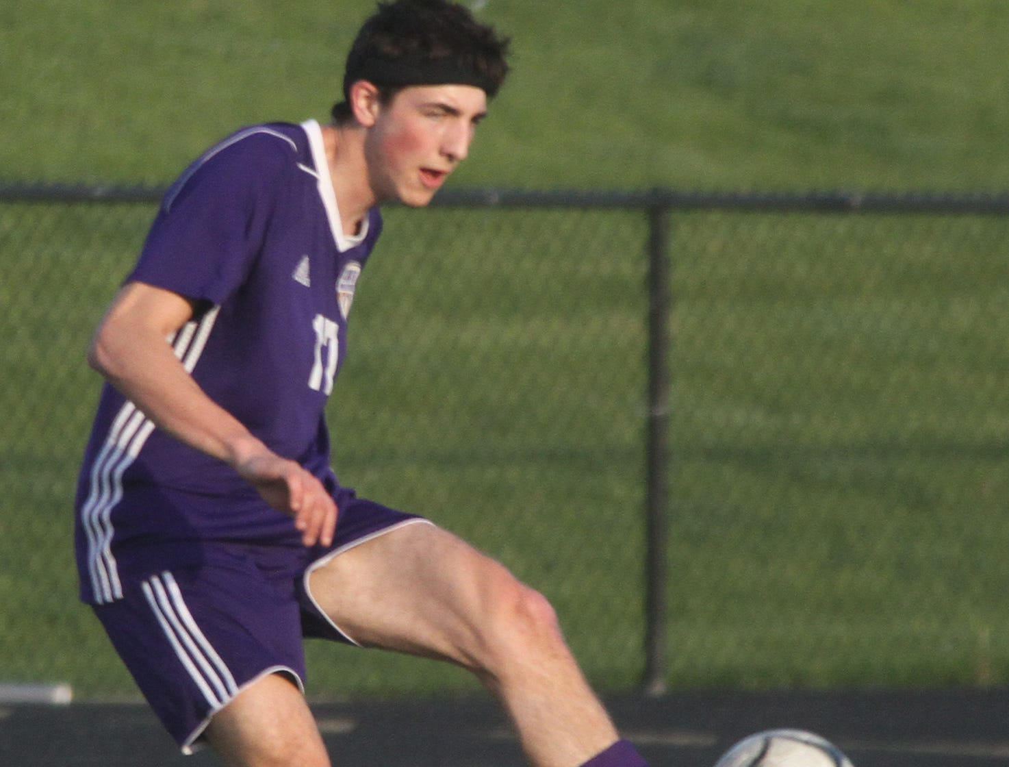 Indianola senior Connor Lynch handles the ball. Indianola beat Newton 2-0 at home in a Little Hawkeye Conference game.