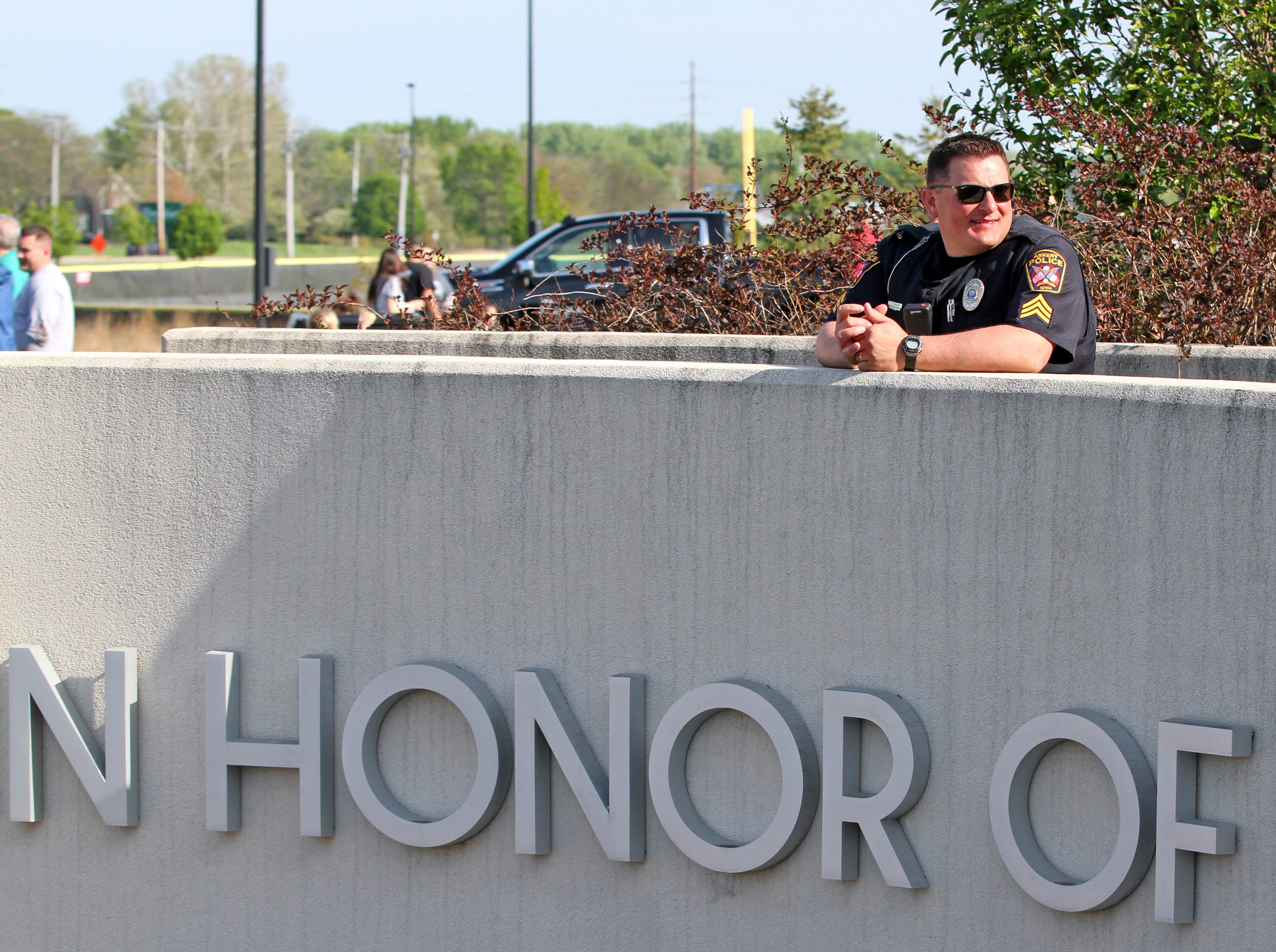 Sgt. Corey Schneden of the Ankeny Police Dept. serves as the Event Organizer during the Ankeny Police Week Community Picnic on Tuesday, May 14, 2019 at the Ankeny Police Headquarters located at 411 SW Ordnance Road. The event featured a tour of the police station, magician Jonathon May, free Chick Fil-A sandwiches for the first 1,000 guests, free Kona Ice, temporary tattoos, and a great opportunity to meet the officers who protect and serve the City of Ankeny.