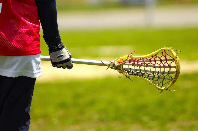 Lacrosse stick stock photo.