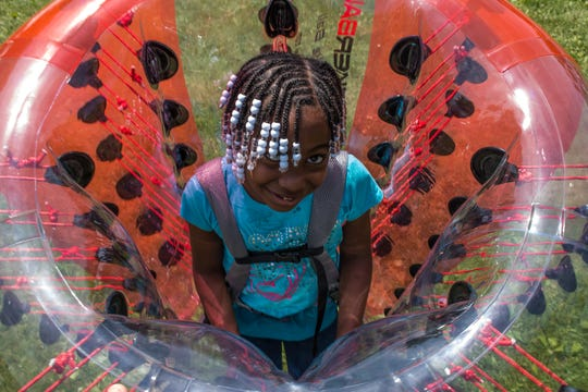 There's plenty of entertainment and games for kids at this year's Chevrolet Detroit Grand Prix presented by Lear — including Knockerball!