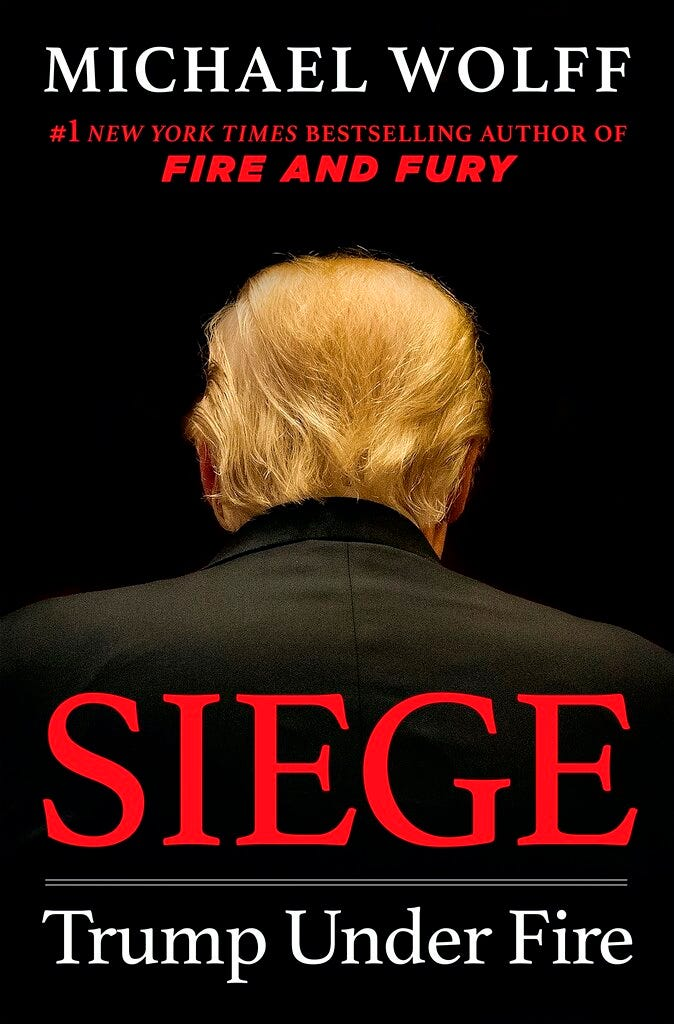 """This cover image released by Henry Holt and Company shows """"Siege: Trump Under Fire,"""" by Michael Wolff, which will be released on June 4."""