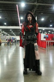 Sandra Farrell-Katz can spend months working on her Comic Con costume, like this Sith from Star Wars.